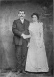 "Taylor A. ""Neddy"" and Elizabeth (Burdeaux) Armstrong upon their wedding"