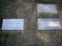 Herman Hershel and Mattie Jerushia (Snavely) Stevens' grave markers