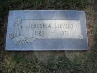 Mattie Jerushia (Snavely) Stevens' grave marker