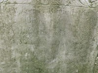 Lydia (Woodbury) Dodge's tombstone - detail