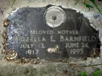 Mozella (Stalcup) Barnfield's grave marker