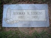 Herman Hershel Stevens' grave marker