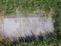 Wilma (Bonifield) Bird's grave marker