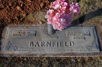 Carl and Katy Barnfield's grave marker