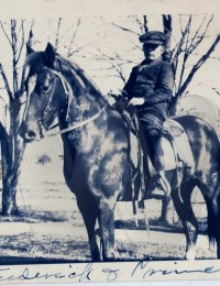 Frederick William Bonifield on horseback