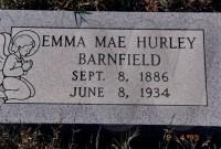 Emma Mae Hurley's grave marker (new)