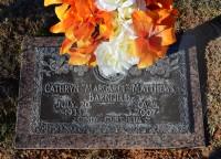 Margaret's grave marker