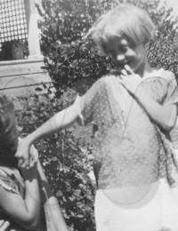 Julia Ann Smith (right) with friend