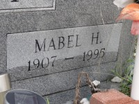 Mabel H. Overby tombstone inscription