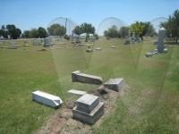 """Parker Smith Grinstead and Alberta Cornelia (""""Birdie"""") Grinstead's tombstones"""