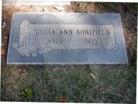 Julia Ann (Smith) Bonifield's grave marker