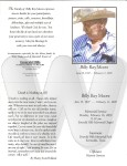 Billy Ray Moore memorial service program