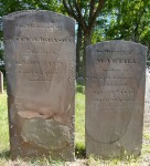 Tombstones of Joseph Johnson and wife Martha (Vail) Johnson