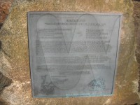 Memorial plaque to the first Woodbury brothers of Beverly