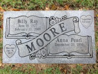 Billy and Anna Moore's grave marker