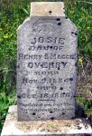 Josie Overby's tombstone