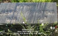 Jasper Newton Grinstead's tombstone