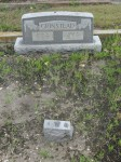 Byron and Lillie Grinstead's tombstone and footmarker