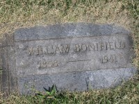 William Bonifield's grave marker