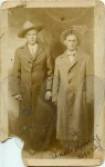 Harvey Overby (right) and friend (2) - unretouched scan