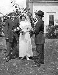 """Hannah Cornelia """"Cornie"""" Overby Irvin officiating at a manless wedding"""