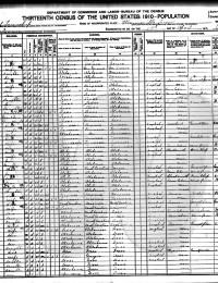 1910 Census - Ratliff, Oklahoma