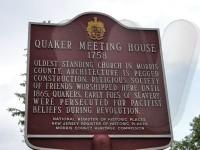 Randolph Quaker meeting house sign