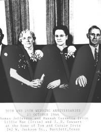 Irvins and Cowsert Anniversary Photo