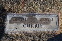 Doug Currie's grave marker