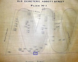 Abbott Street Burial Plan map