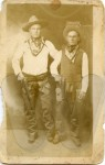 Harvey Overby (right) and friend - unretouched scan