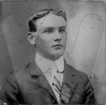 Harvey Overby as a young man