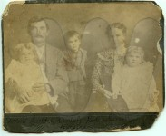 Bob and Sallie Swann and family - unretouched scan