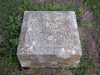 Mattie Barnfield Hackworth's grave marker