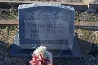 Lottie Alice (Brooks) Overby's tombstone