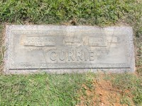 Doug and Juanita Currie's grave marker