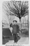 Frederick William Bonifield as a boy in a uniform in 1919