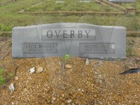 Cecil Brooks and Archie Inez Overby's tombstone