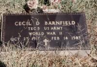 Cecil Desmond Barnfield's grave marker