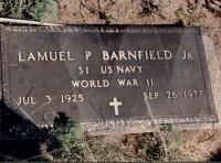 LP Barnfield's grave marker