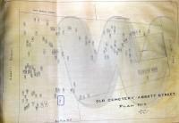 Abbott Street Burial Ground map showing Elizabeth (Herrick) Woodbury's plot