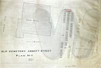Abbott Street Burial Ground map showing Nicholas Woodbury's plot