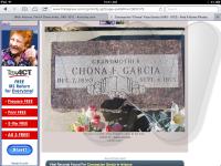 Chona Fass Garcia Foot Stone