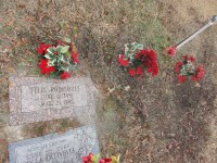 Lester and Patrick's unmarked grave site next to their father Felix