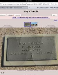 Ray F. Garcia - Foot Stone