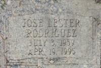 Lester Rodriguez's grave marker